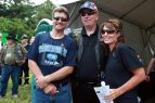 Sarah and Todd pose with Jay Fairlamb at Rolling Thunder