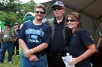 Sarah and Todd pose with Jay Fairlamb at Rolling Thunder
