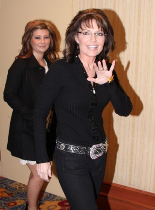 Sarah and Willow arrive at CPAC event
