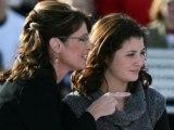 Sarah and Willow - Sarah pointing