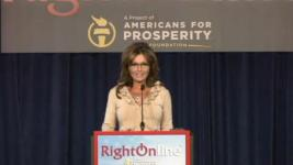 Sarah at podium at RightOnline 2012 Conference