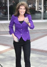 Sarah leaving FOX Studio in NYC Sunday after CPAC