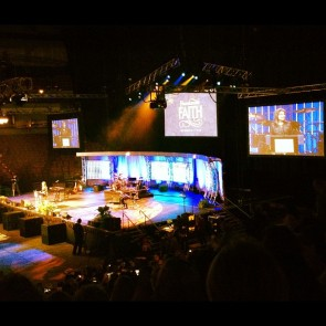 Sarah onstage at Greenville Extraordinary Womens Conference