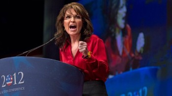 Sarah revving up the base at CPAC