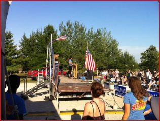 Sarah speaking at Steelman rally - August 2012