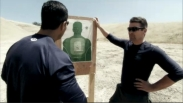 Todd and Cortes view target after Todd practices