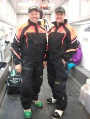 Todd and Davis standing in waiting area before Iron Dog 2012