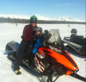 Todd and Tripp on Snow Machine