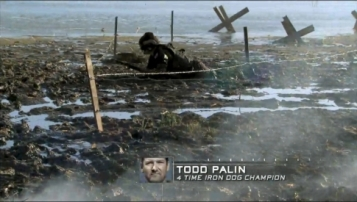 Todd clears barbed wire during Episode 1 of Stars Earn Stripes