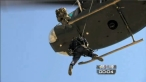 Todd jumping out of helicopter on Stars Earn Stripes