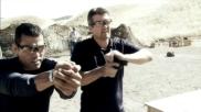 Todd prepares pistol to shoot