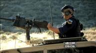 Todd prepares to shoot machine gun