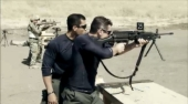 Todd rifle training with Cortes in Stars Earn Stripes Episode 1