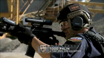 Todd shooting target on Stars Earn Stripes