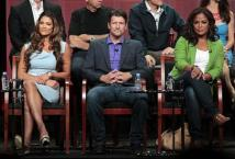 """Torres, Palin and Ali attend a panel for """"Stars Earn Stripes"""" during the NBC television network portion of the Television Critics Association Summer press tour in Beverly Hills"""