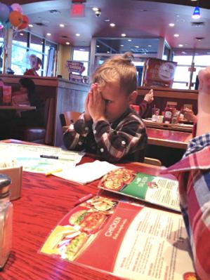 Tripp Praying at Mealtime