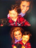 Two photos of Willow and Trig