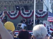 2Sarah sits on stage at Buckeye AZ Vietnam veteran memorial event