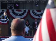 4Sarah sits on stage at Buckeye AZ Vietnam veteran memorial event