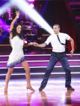 Bristol and Mark dancing cha-cha during Week 1 DWTS All Stars