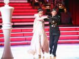 Bristol and Mark dancing Paso Doble on chess board in Week 3 of DWTS All Stars