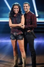 Bristol and Mark in Western costume during Week 2 DWTS All Stars