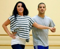 Bristol and Mark practicing - DWTS All Stars
