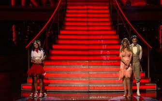 Bristol and Mark up against Kirstie Alley and partner during Week 4 eliminations