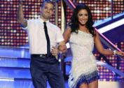 Bristol and Mark walking down the stairs for Dance 1 of DWTS All Stars