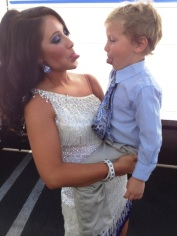 Bristol and Tripp sticking their tongues out after DWTS Week 1