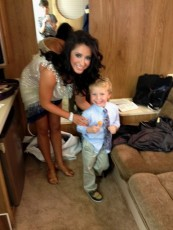 Bristol and Tripp with lollipop after Week 1 DWTS All Stars
