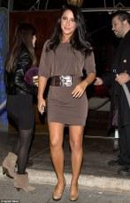 Bristol in brown dress at DWTS