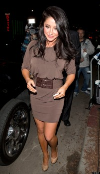 Bristol Palin seen leaving the 'Dancing With The Stars' end of season after party at Boulevard 3 nightclub in Hollywood, CA