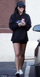 Bristol leaving rehearsal in black outfit