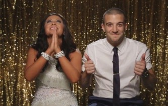 Bristol looks Heavenward and Mark gives a thumbs up during Week 2 Results
