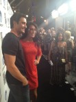 Bristol poses with Gilles Marini at Just Dance 4