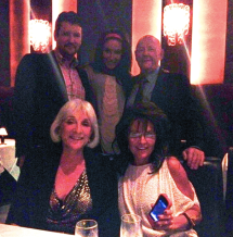 Bristol Todd and Sarah and Walker Evans and wife at diinner after Week 4 DWTS All Stars
