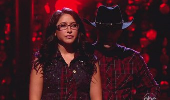 Bristol wearing glasses after Week 2 DWTS All Stars performance