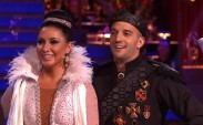 Closeup of Bristol and Mark as they await results for Paso Doble on DWTS All Stars