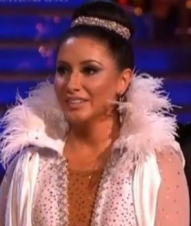 Closeup of Bristol in Paso Doble costume during Week 3 of DWTS All Stars