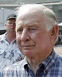 Closeup of Chuck Heath Sr in plaid shirt
