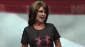 Closeup of Sarah during 2013 NRA Speech