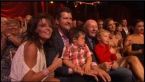 Gov. Palin Todd Trig and Tripp in audience during Week 4 DWTS All Stars