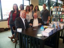 Heaths at Rochester book signing with supporters