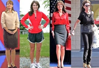 Montage of Sarah photos including skinny look