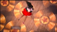 Overhead view of Mark twirling Bristol during Dance 4 DWTS All Stars