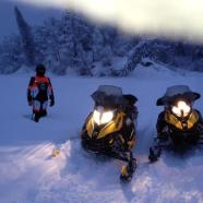 Palin and Davis Ski Doo Snow Machines