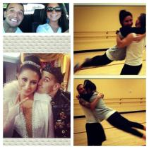 Photo montage - Bristol and Mark during Weeks 3 and 4 and DWTS practice