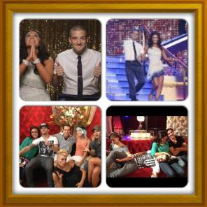 Photo montage from Week 1 of DWTS All Stars