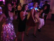 Piper and friend dancing during Just Dance 4 launch party